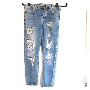 Top Shop Moto Petite boyfriend jeans 25W